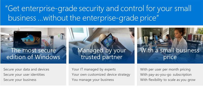 Windows 10 Enterprise E3 Features